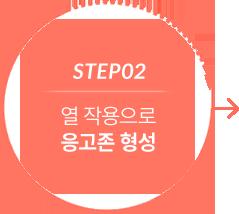 step2 열작용으로 응고존 형성